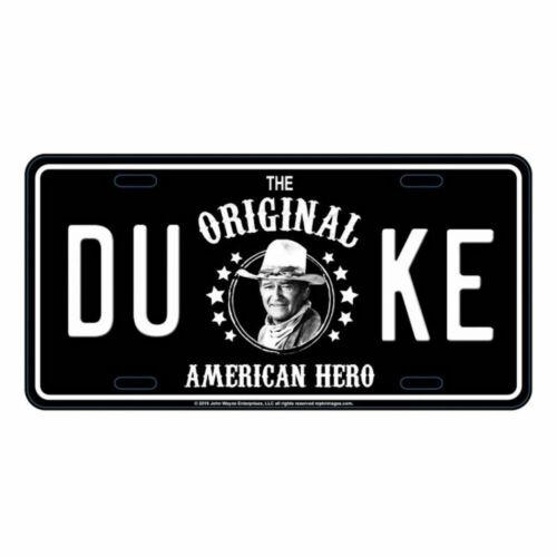 John Wayne Black And White Metal License Plate
