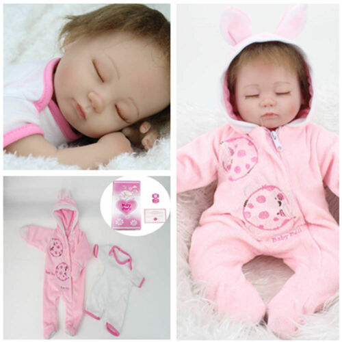 "16"" Reborn Baby Dolls Handmade Newborn Vinyl Silicone Girl Doll Xmas Gift US"