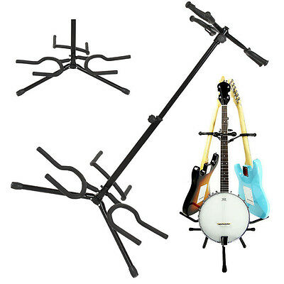 Brand New Guitar Stand Acoustic Bass Electric 3 Holder