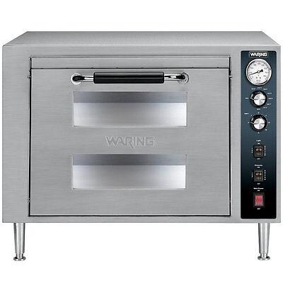 Waring Wpo700 Countertop Double Deck Electric Pizza Oven 1 Door