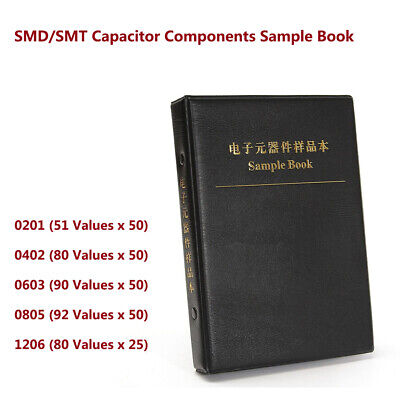 0201 0402 0603 0805 1206 Smdsmt Capacitor Components Sample Book Kit Assortment