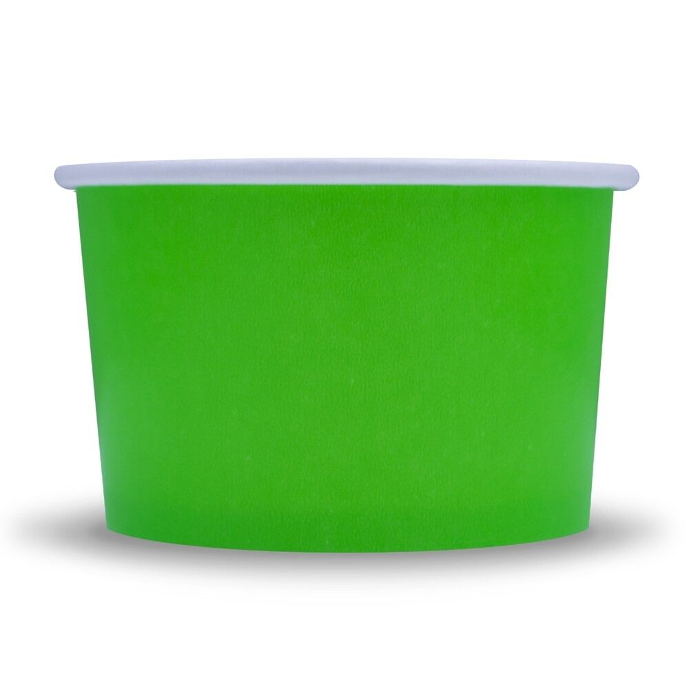 Green Ice Cream Paper Cups - 4 oz Disposable Birthday Party