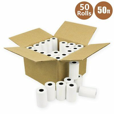 50 Rolls Case 2 14 X 50 Thermal Credit Card Cash Register Pos Receipt Paper
