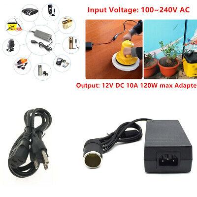 110V - 220V AC to 12V 120W DC Car Cigarette Lighter Socket Power Adapter US Plug