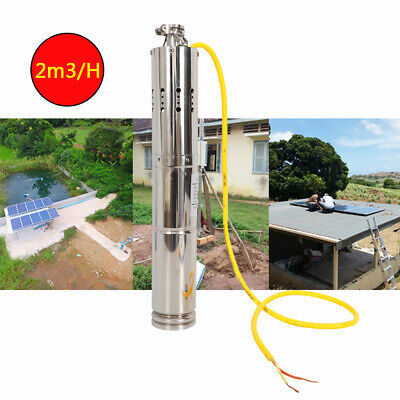 Noiseless Solar Powered Submersible Deep Well Water Pump 2mh 110w 12v18v Dc