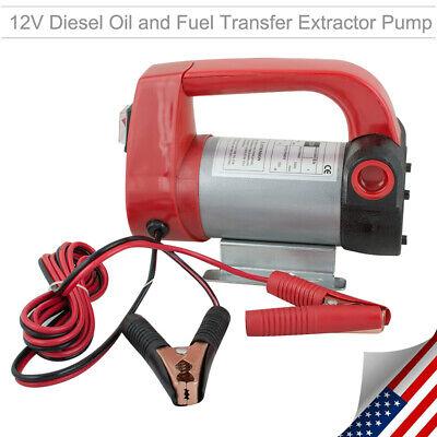 Portable 12v Diesel Biodiesel Kerosene Pump Oil Fuel Transfer Extractor Suction