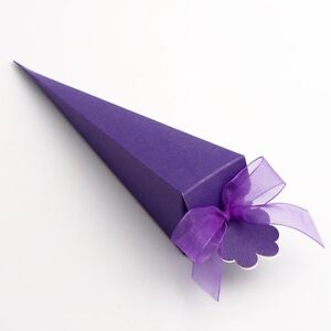 Luxury DIY Wedding Party Favour Gift Sweet Boxes - Purple Silk Range