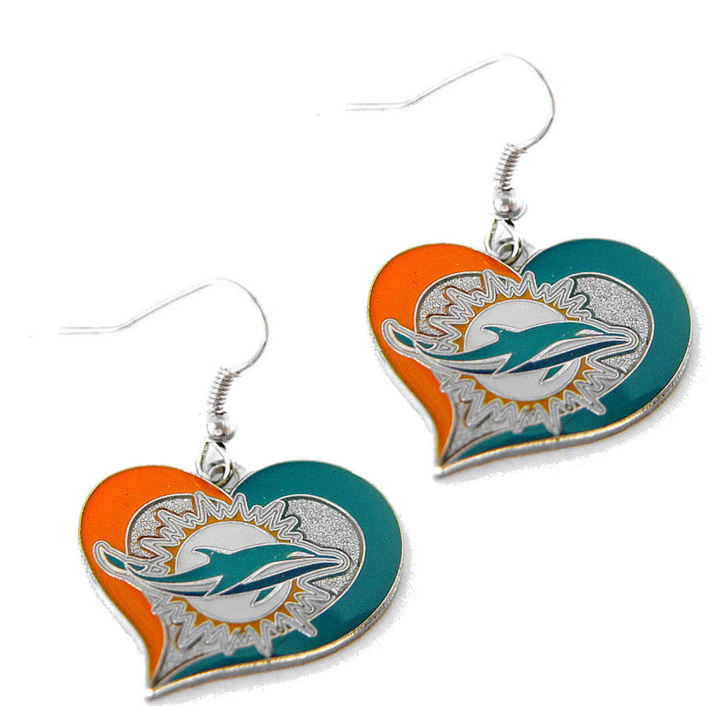 swirl heart earring dangle charm NFL PICK YOUR TEAM