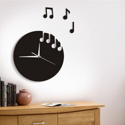 Music Notes Wall Clock Wall Art Musical Modern Design Musicians Rock n Roll Gift