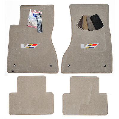 2003 2004 2005 Cadillac CTS-V Floor Mats - Light Neutral - V-Series Logos - USA