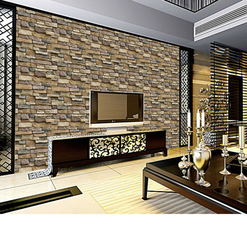 Home Decoration - 3D Wall Sticker Tile Brick Self-adhesive Mosaic Kitchen Bathroom Home Decor