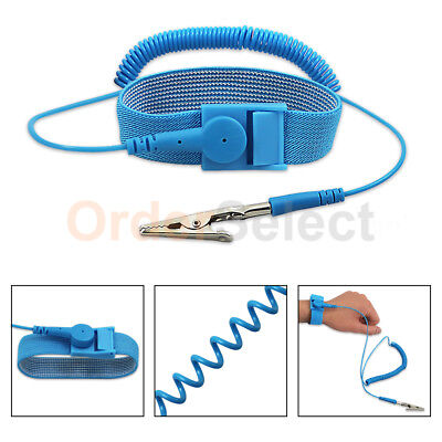 Anti-static ESD Adjustable Strap Antistatic Grounding Bracelet Wrist Band Blue