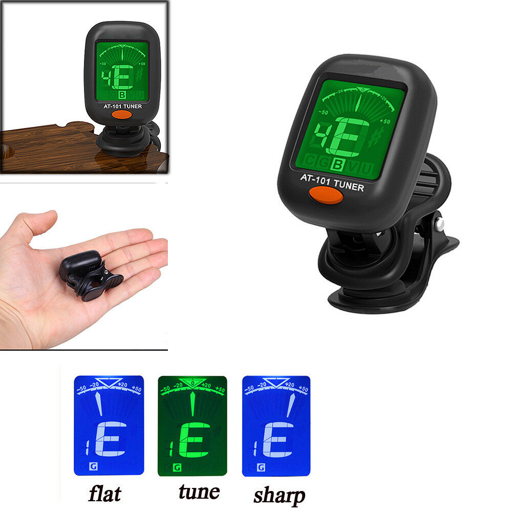 Купить Digital Chromatic LCD Clip-On Electric Tuner for Bass Guitar Ukulele Violin Oud