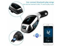 X5 Car Kit MP3 Player Wireless Bluetooth FM Transmitter Radio Adapter Car Charger
