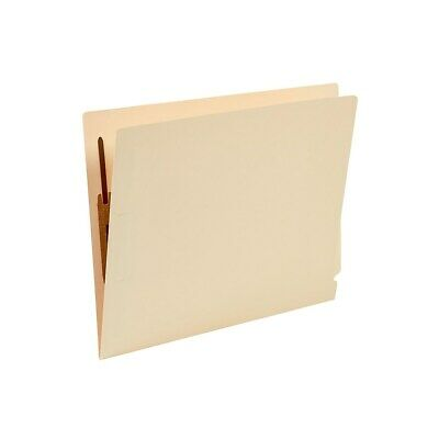 Staples Manila End-tab Fastener Folders With Reinforced Tabs Letter Size 50bx