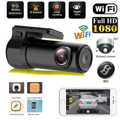 1080P HD WIFI Dash Cam Car DVR Camera 170° Wide Angle Video Recorder G-sensor