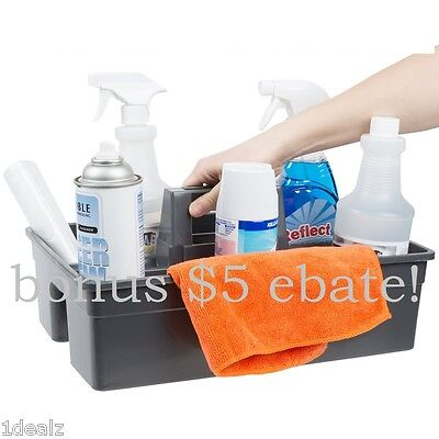 Janitorial Maid 3 Compartment Gray Janitor Caddy Large 16 X 11 X 6 34