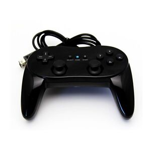 Pro Classic Game Controller Remote for Nintendo Wii Black