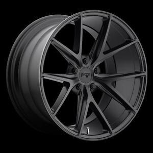 "19"" Wheel Roue Niche M117 Mustang Lexus Infiniti Edge Accord Optima Satin Black Roues 5x4.5 Wheels Mag 5x114.3"