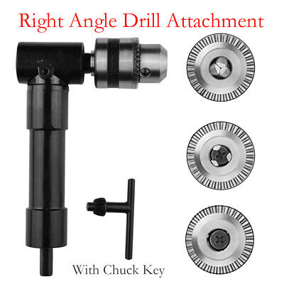 Professional Metal Aluminium 90 Degree Right Angled Drill Attachment Chuck Tool