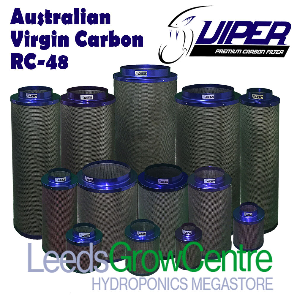 Carbon Filter Fan Duct Viper Extraction Kits 4 5 6 8 10 12 Grow Tent Hydroponics