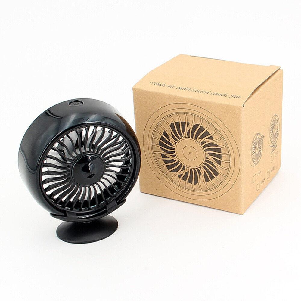 Mini Car Fan Cooling Fan for Air Vent/Dashboard 3 Speeds USB