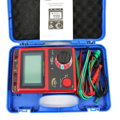 Smart Sensor Ar907a 100-2500v Digital Insulation Meter Tester Megger Megohm