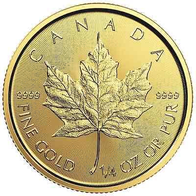 2016 $10 Gold Canadian Maple Leaf .9999 1/4 oz Brilliant Uncirculated