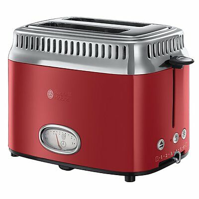 Russell Hobbs 21680-56 Retro Ribbon Red Toaster, styleCountdown-Anzeige T3378