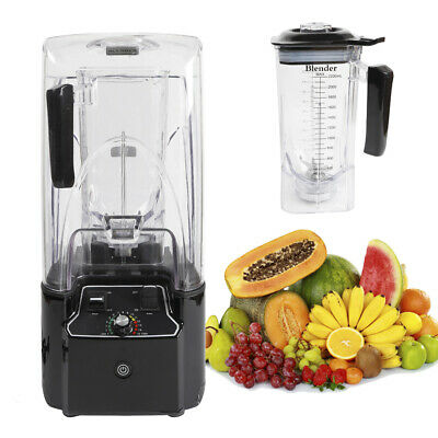 Commercial Soundproof Smoothie Blender Automatic Blending Mixer Steel Blade
