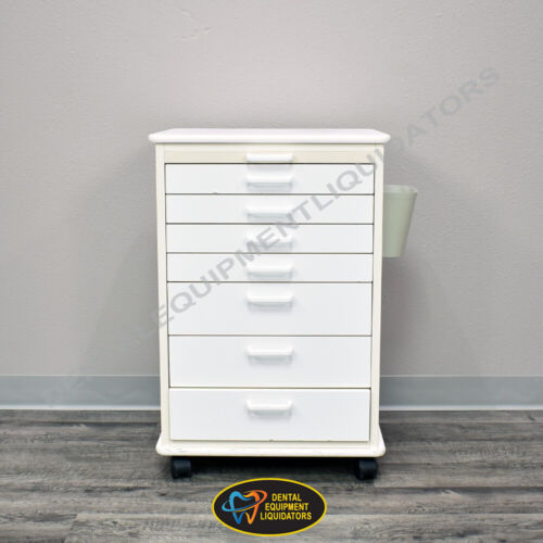 Mobile Dental Medical Storage & Accessory Cabinet with 7 Storage Drawers