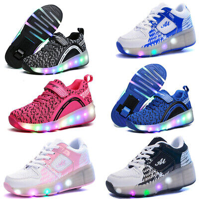 LED Shoes Children Kids Boys Girls Roller Sport Wheelys Skates Flash LED Trainer ()