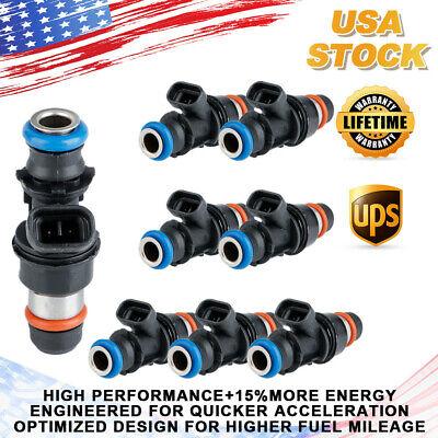 8x Upgrade Fuel Injectors For 99-07 GM Chevy Silverado GMC 4.8/5.3/6.0L 25317628