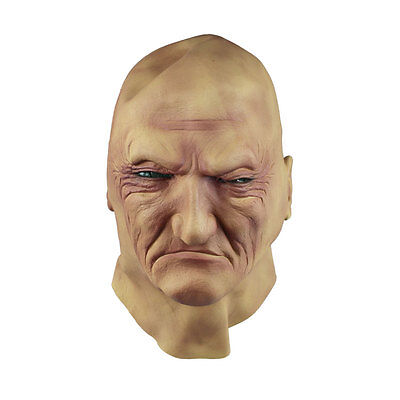 Realistic Man Mask Old Male Disguise Halloween Fancy Dress Bruiser Bouncer