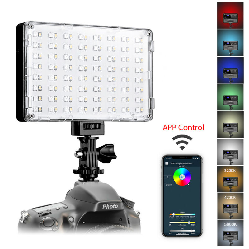 GVM RGB-10S LED Camera Light Full Color Output Video Lights with APP Control