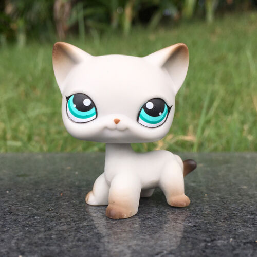 Littlest Pet Shop LPS 391 White Short Hair Cat Doll Toy Collection Gift For Kids