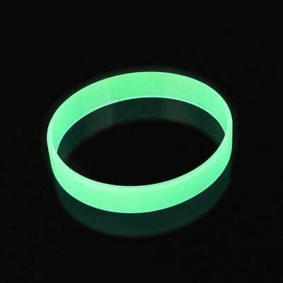 Blue Yellow Green Glow in the Dark  width rubber hand bands silicone bracelets   (Blue Glow In The Dark)