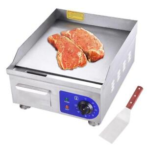 "1500W 14"" Electric Countertop Griddle Flat Top Commercial Restaurant Grill BBQ - FREE SHIPPING"