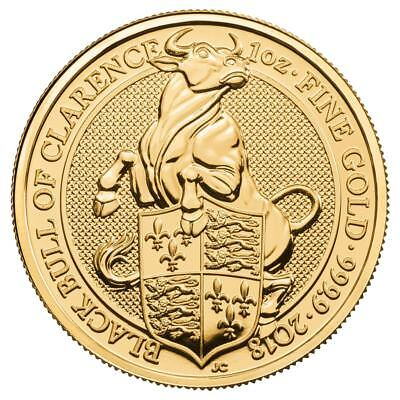 2018 Queens Beast Bull 1 Oz Gold Coin   Direct From British Royal Mint Tube
