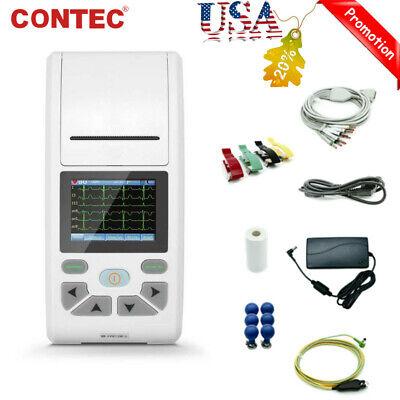 Fda Ecg90a Handheld 12 Channel Electrocardiograph 12 Leads Ecg Machineusb Pc Sw
