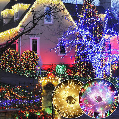 100-1000LED Christmas Fairy String Lights Outdoor Indoor Xmas Party Lamps Decor ()