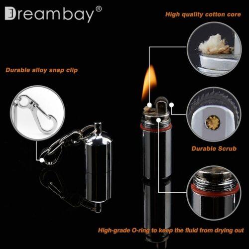 2 Pcs EDC Peanut Waterproof Keychain Lighter for Survival Emergency Fire Starter