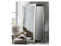 New massive antique silver or off white full length mirror £159