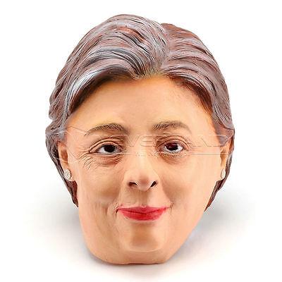 LATEX HILLARY CLINTON MASK Halloween, President, Costume, Party, Fancy Dress](Clinton Halloween Party)