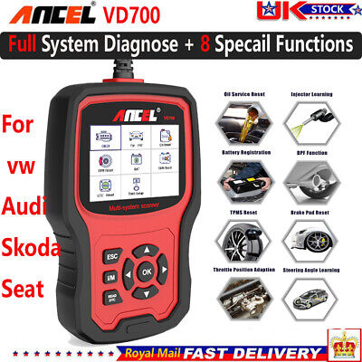 ABS SRS OBD2 Scanner DPF Injector EPB Oil Reset Diagnostic Tool for VW/Audi/Seat