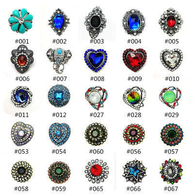 Hot Charm 3D Crystal Chunk  Snap Button Fit For Noosa Necklace/Bracelet Jewelry](Jewelry Snaps)