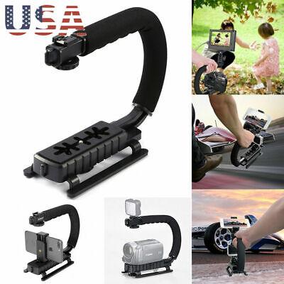 Pro Stabilizer C/U Shape Bracket Video Camera Grip Handheld Fit DSLR Camcorder
