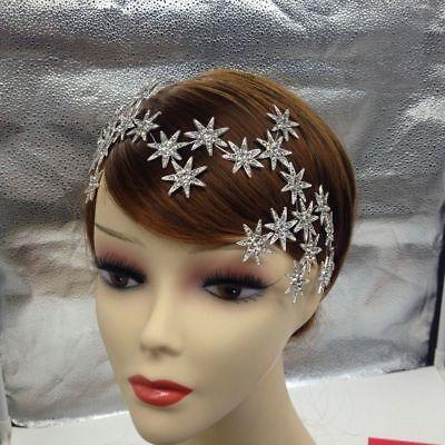 Cristal Corona Tiara de Novia Estrás Cabello Concursos Belleza Boda Reina Cabeza