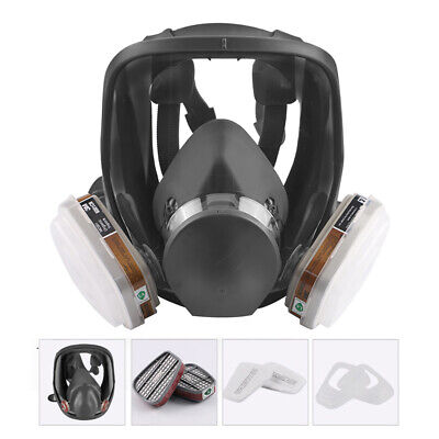 7 In 1 Full Face Gas Mask Cover Respirator Chemical Spray Painting Vapour 6800