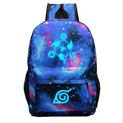Anime Naruto Canvas Backpack Shoulder Bag School Bag Cosplay Prop Gift